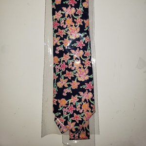 Lilly Pulitzer Navy Tie with Pink Flowers